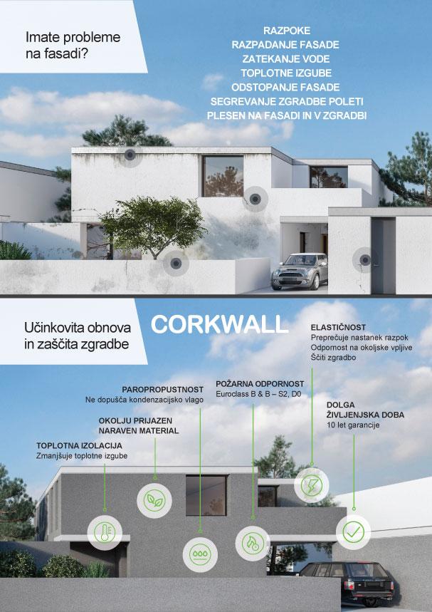 Paropropustna in elastična toplotna izolacija fasade iz naravnega materiala