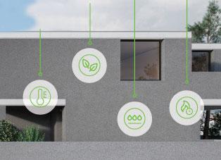 Corkwall - paropropustna toplotna izolacija fasade iz naravnega materiala / www.timopara.si
