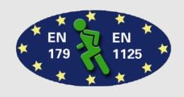 GFS varnostna varovala za zasilne izhode in izhode v paniki ustrezajo standardom SIST EN 179 in SIST EN 1125 / www.timopara.si