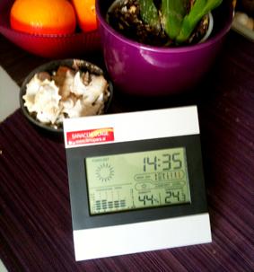 Digitalni merilec vlage in vremenska postaja / www.timopara.si