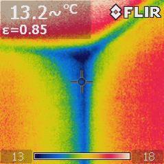 Meritev temperature površin s termografsko kamero / www.timopara.si